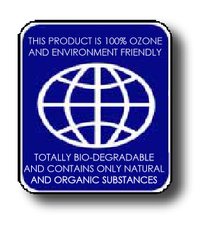 Spotless is 100% ozone and environment friendly, totally biodegradable, and contains only natural and organic substances